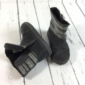 Toms Nepal Castlerock Metallic Woven Boots SZ 5